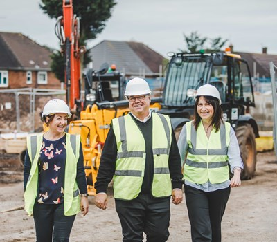 Jo, Marshall & Lisa at development site